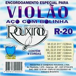 Encordoamento para Violão em Aço R20 - Rouxinol