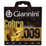 Encordoamento para Violão Folk Geewak Cobra Aço 0.09 Giannin