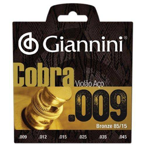 Encordoamento para Violao Folk Geewak Cobra Aco 0.09 Giannini