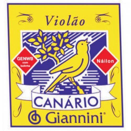 Encordoamento para Violão Genwb com Bolinha Nylon Médio Giannini