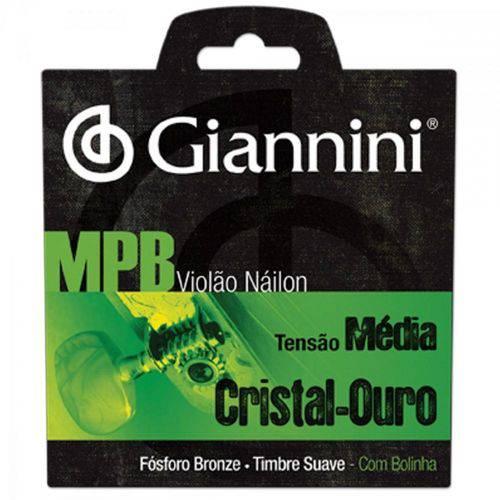 Encordoamento para Violão Genwg com Bolinha Nylon Média Giannini