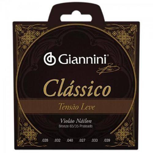 Encordoamento para Violao Genwpl Serie Classico Nylon Leve Giannini
