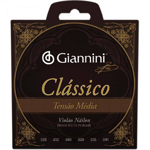 Encordoamento para Violão Genwpm Série Clássico Nylon Média Giannini