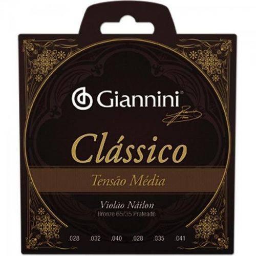 Encordoamento para Violao Genwpm Serie Classico Nylon Media Giannini