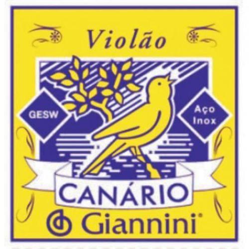 Encordoamento para Violão Gesw Série Canário Aço Média Giannini