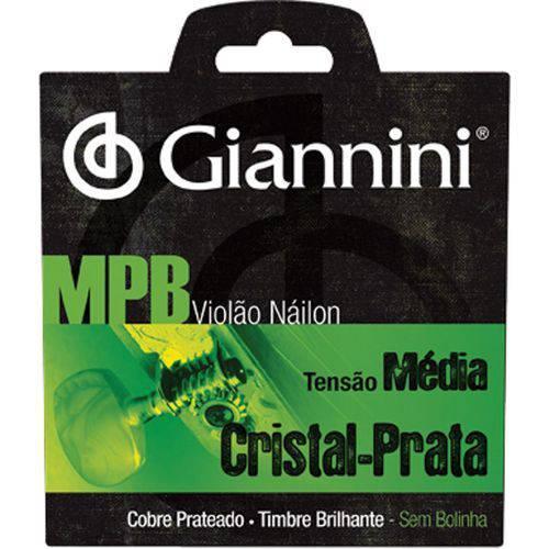 Encordoamento para Violão Mpb Nylon Cristal Prata Sem Bolinha - Genws