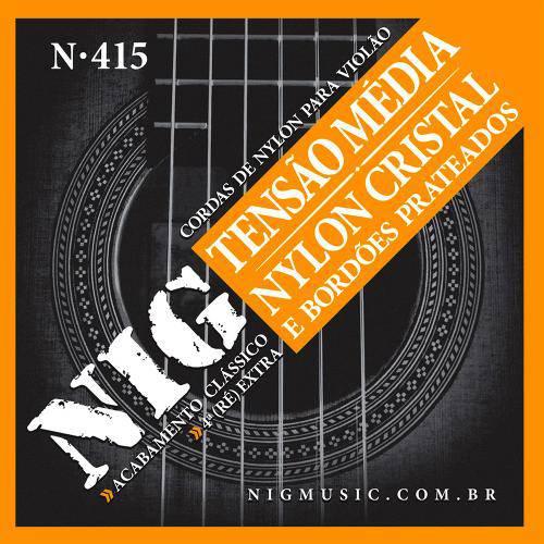Encordoamento para Violão Nylon Cristal Tensão Média N-415 - Nig