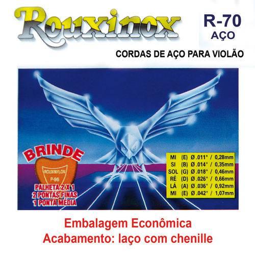 Encordoamento para Violão R70 de Aço Rouxinol com 12