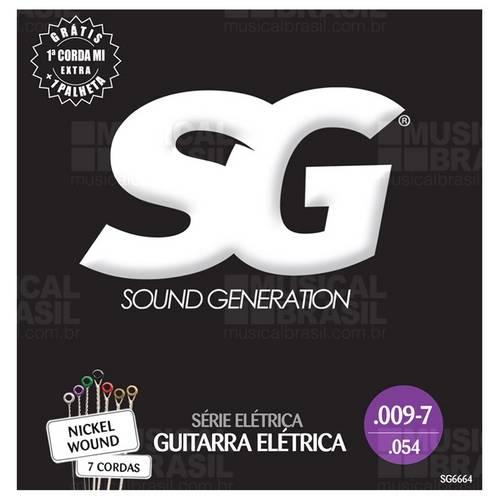 Encordoamento Sg (S.Generat.) Sg 6664 Guitarra .009 - 7 Cordas Niquel