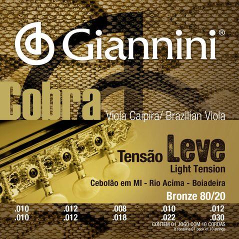 Encordoamento Viola Giannini Cv82l Cebolao Mi/rio Acima/boi Cobra