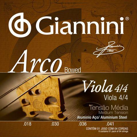 Encordoamento Viola Giannini Geavoa Alumínio Arco