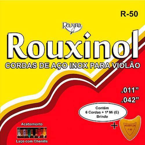Encordoamento Violão Aço com Chenilha R50 Rouxinol