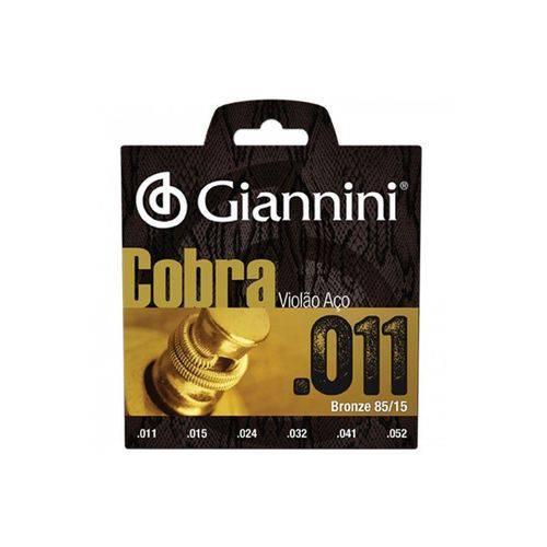Encordoamento Violão Aço Giannini Geeflk 011