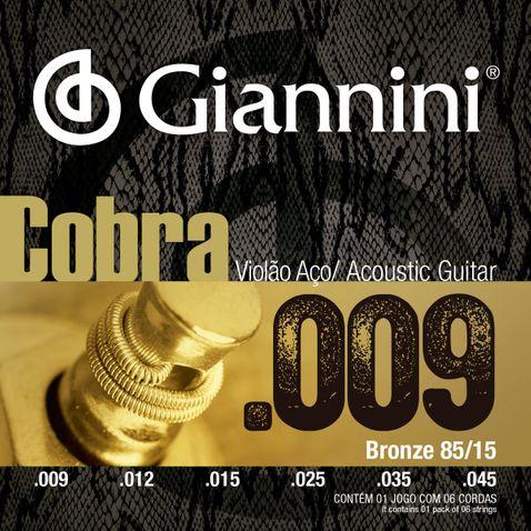Encordoamento Violao Giannini Geewak 009-045 Aço