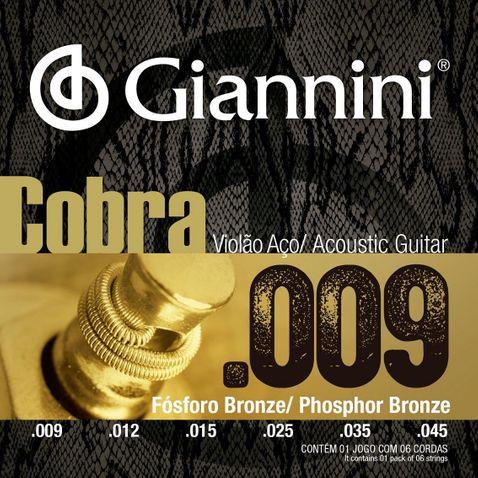 Encordoamento Violao Giannini Geewakf Bronze Fosforo 0.009