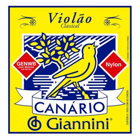 Encordoamento Violao Giannini Genwb C/ Bolinha Nylon Canário
