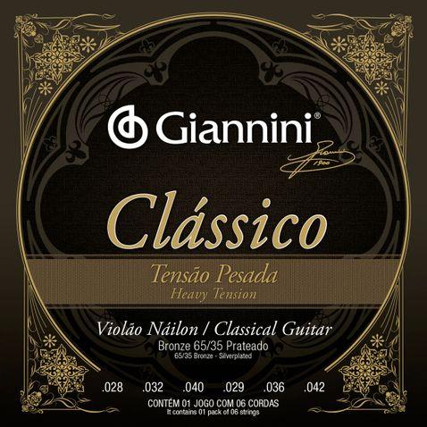 Encordoamento Violao Giannini Genwpa Classico Bronze 65/35