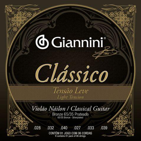 Encordoamento Violao Giannini Genwpl Classico Bronze 65/35