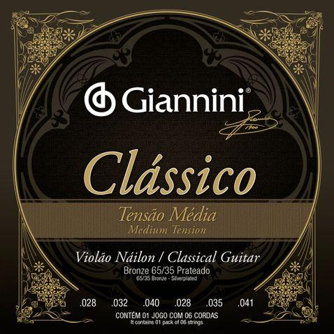Encordoamento Violao Giannini Genwpm Classico Bronze 65/35