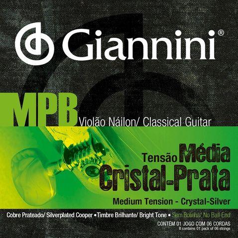 Encordoamento Violao Giannini Genws Mpb Cristal Prata