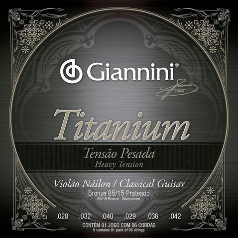 Encordoamento Violao Giannini Genwta Titanium Bronze 85/15 Prateado
