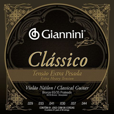 Encordoamento Violao Giannini Genwxpa Classico Bronze 65/35