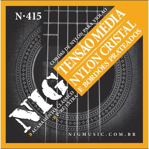 Encordoamento Violao Nig N415 Nylon Cristal/prateado Media Tensao