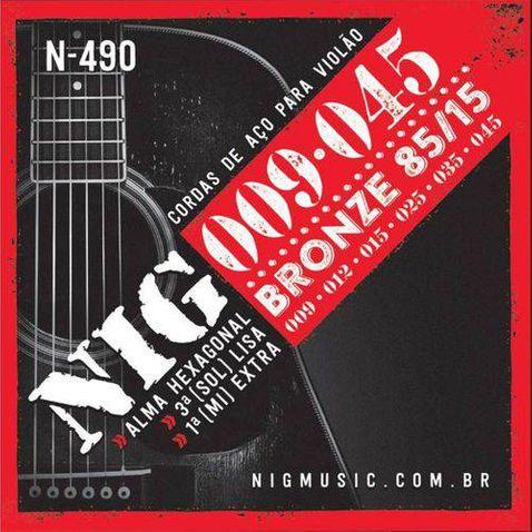 Encordoamento Violao Nig N490 Aco/bronze-.009/.045-6