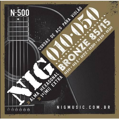 Encordoamento Violao Nig N500 Aco/bronze .010/.050-6