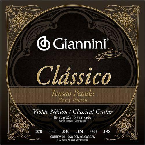 Encordoamento Violão Nylon Giannini Clássico Pesada GENWPA