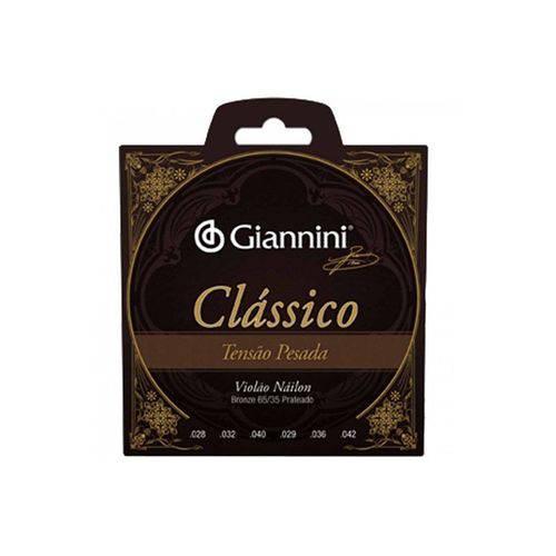 Encordoamento Violão Nylon Giannini Genwpa