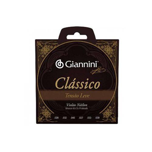 Encordoamento Violão Nylon Giannini Genwpl