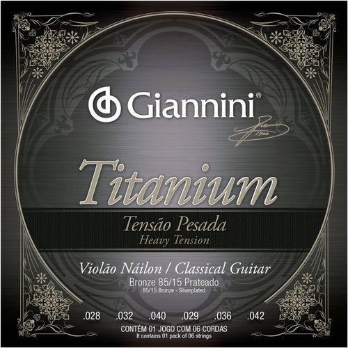 Encordoamento Violão Nylon Giannini Titanium T Pesada GENWTA