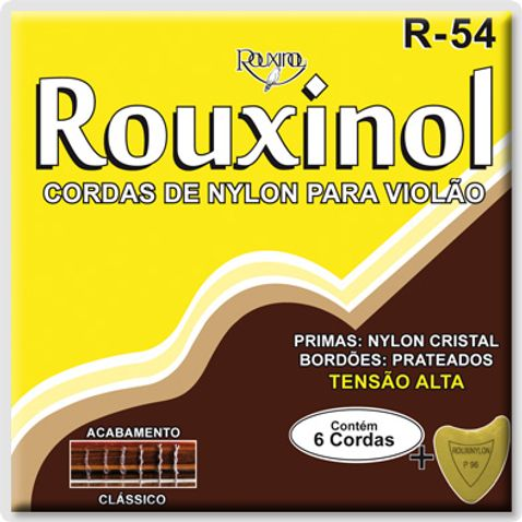 Encordoamento Violao Rouxinol R54 Nylon Cristal/prateada Tensao Alta