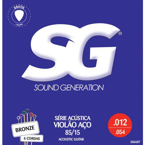 Encordoamento Violão SG IZ6687 012 Aço