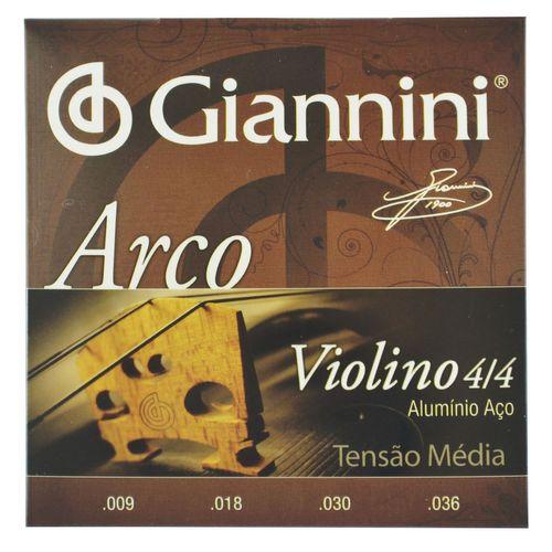 Encordoamento Violino 4/4 Aluminio Aço .009-.036 - Giannini