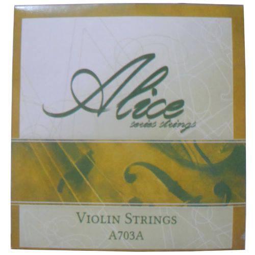 Encordoamento Violino Alice Série Strings A703a Níquel