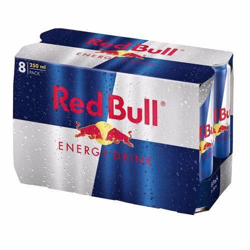 Energético Red Bull 250 Ml Energy Drink Kit com 8 Unidades