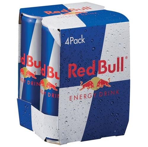 Energetico Redbull 250ml com 4