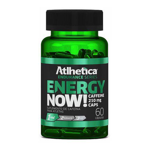 Energy Now Caffeine 210mg 60 Cápsulas Atlhetica