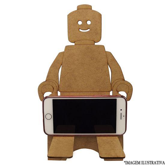 Enfeite de Mesa em MDF Suporte para Celular Infantil Robô 24x16x16,5cm - Palácio da Arte