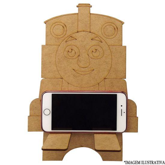 Enfeite de Mesa em MDF Suporte para Celular Infantil Trem 24x18,2x16,5cm - Palácio da Arte