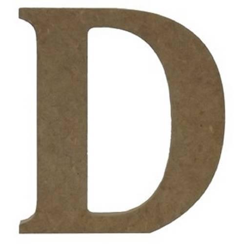 Enfeite de Mesa Letra D 18cm X 18mm - Madeira Mdf