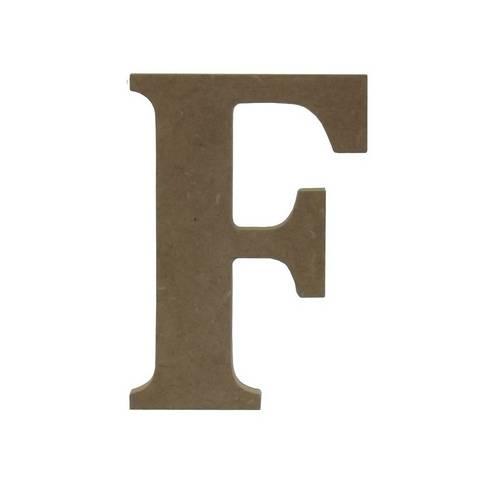 Enfeite de Mesa Letra F 12cm X 18mm - Madeira Mdf