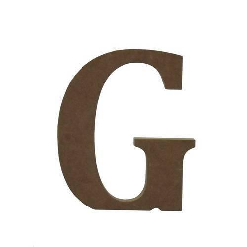 Enfeite de Mesa Letra G 12cm X 18mm - Madeira Mdf