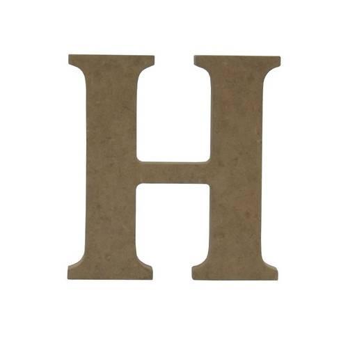Enfeite de Mesa Letra H 12cm X 18mm - Madeira Mdf