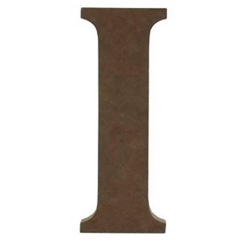 Enfeite de Mesa Letra I 18cm X 18mm - Madeira Mdf