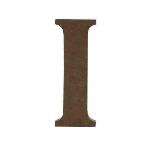 Enfeite de Mesa Letra I 12cm X 18mm - Madeira Mdf
