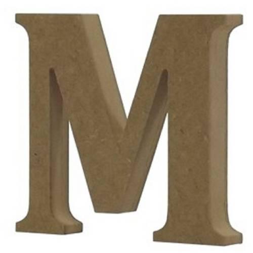 Enfeite de Mesa Letra M 18cm X 18mm - Madeira Mdf