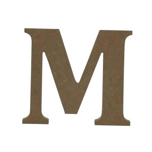 Enfeite de Mesa Letra M 12cm X 18mm - Madeira Mdf